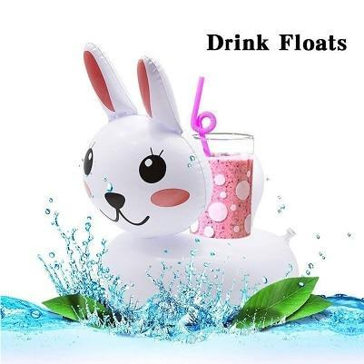 Sparkle Red Swimming Rings rabbit Swimming Pool Floating Cup Holder 14:100018786
