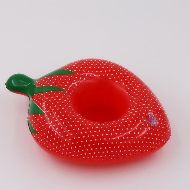 Sparkle Red Swimming Rings Strawberry Swimming Pool Floating Cup Holder 14:365016