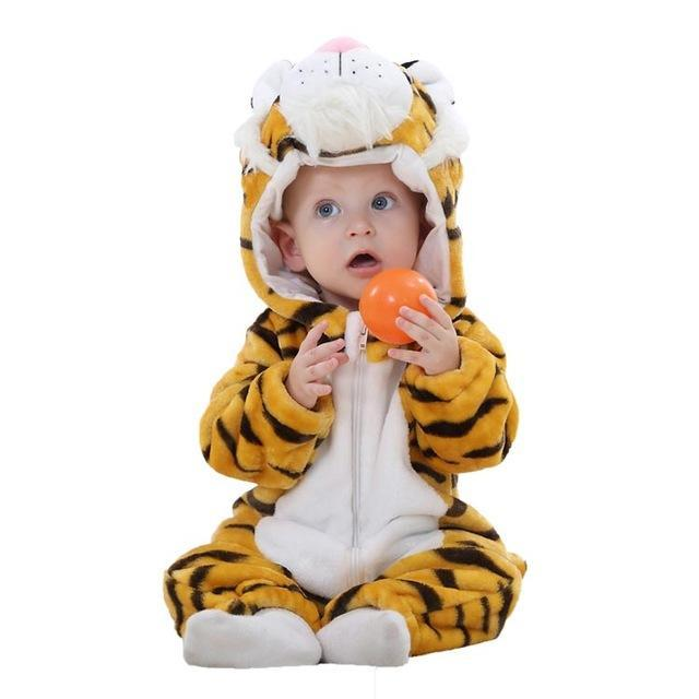 Sparkle Red Tiger / 3M / United States Animal Jumpsuit for Kids