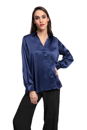 ADONIS Cross Placket Blouse