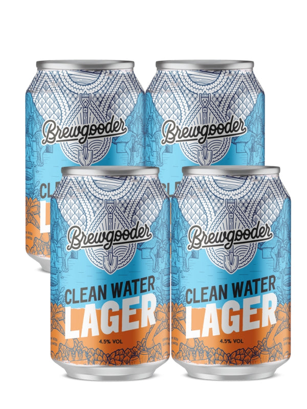 Brewgooder - Clean Water Lager 4 x 330ml
