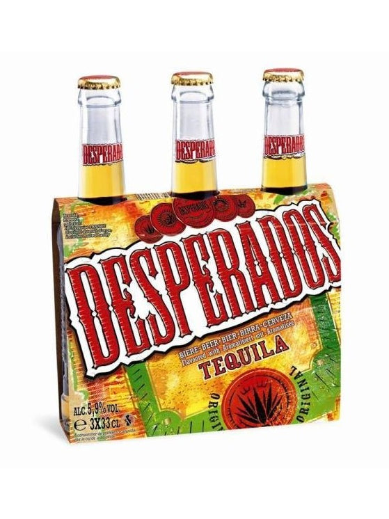 Desperados - Tequila Flavoured Lager 3 x 330ml