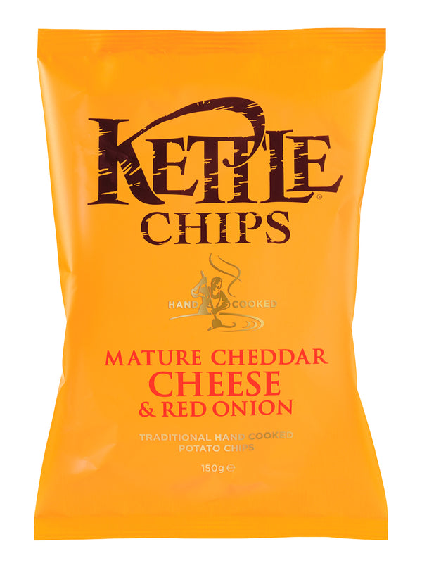 Kettle Chips - Mild Cheddar & Red Onion 80g