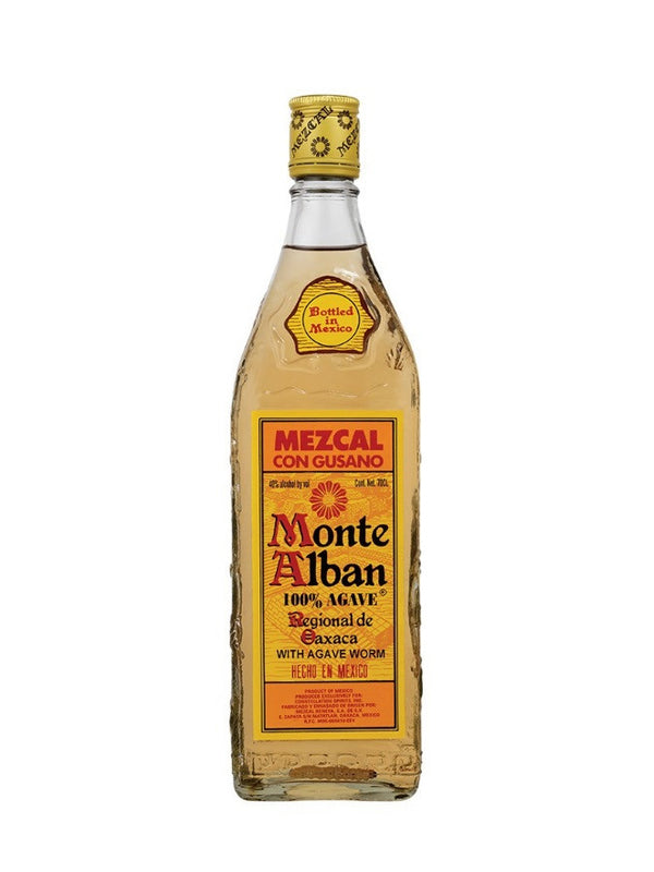 Monte Alban - Mezcal Tequila With Worm 70cl