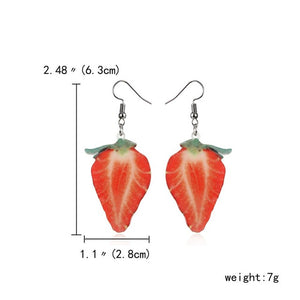 Acrylic Cute Fruit Earrings