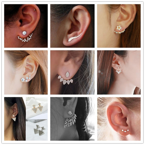 Stylish Geometric and Flower Earrings (19 Styles)