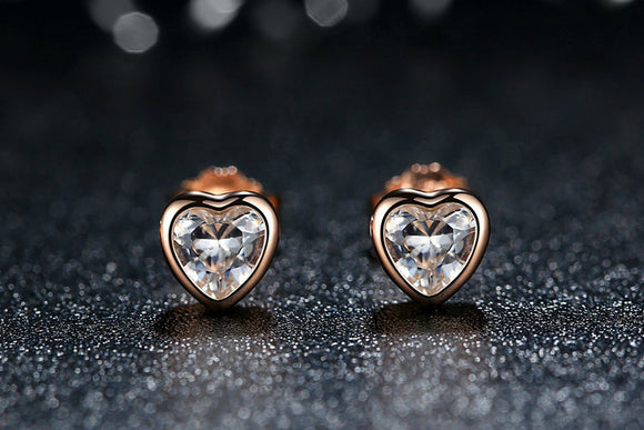 Silver One Love Stud Earrings