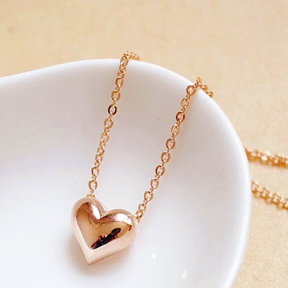 Beautiful Peach Heart Necklace