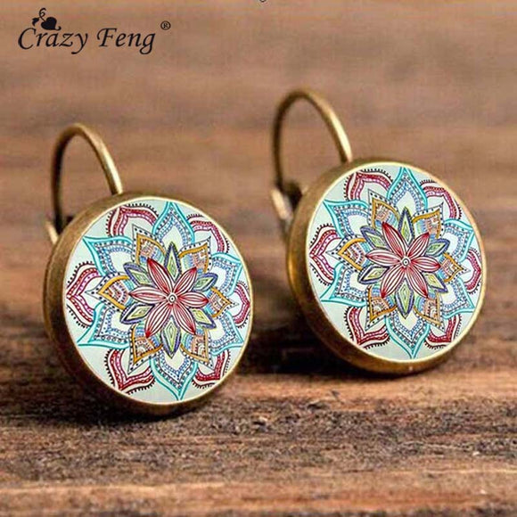 Crazy Flower Drop Earrings