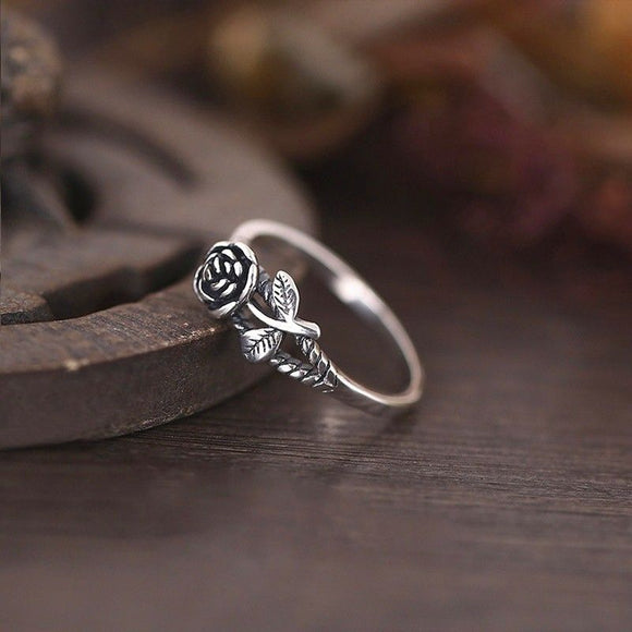 Vintage Rose Flower Ring