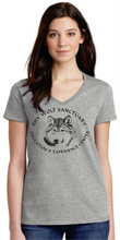 Load image into Gallery viewer, Shy Wolf Sanctuary Ladies V-Neck Shirts