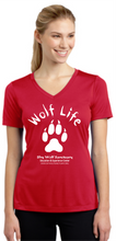 Load image into Gallery viewer, Wolf Life Ladies V-Neck Dry-Fit Shirts