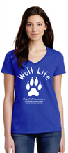 Load image into Gallery viewer, Wolf Life Ladies V-Neck
