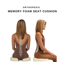 Load image into Gallery viewer, Orthopedic Memory Foam Seat Cushion
