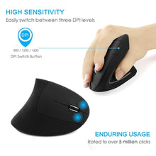 Load image into Gallery viewer, Wireless Ergonomic Mouse