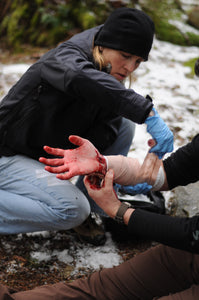 Going beyond bleeding control and learning proper wound management is an important skill taught in a Wilderness First Responder (WFR) course.