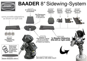 "Baader 3""/Pan-EQ dual dovetail clamp 370mm - Astro Mounts"