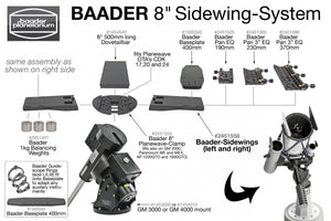 Baader Modular Guidescope Rings, 140-185mm - Astro Mounts