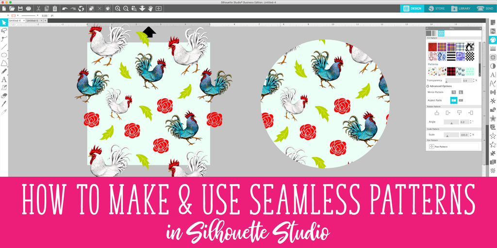 How to Make & Use Seamless Patterns in Silhouette Studio