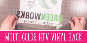 Multi-Color HTV Vinyl Hack - Line it up the easy way (with video!)