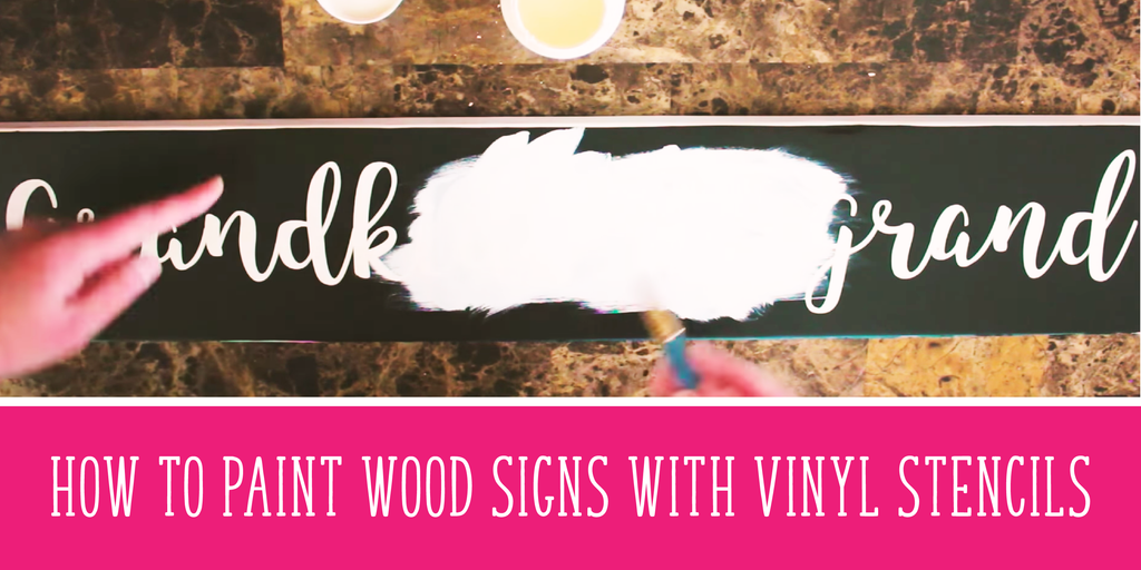 How To Paint Wood Signs With Vinyl Stencils, Faster & Without Any Bleeds (with 3 videos!)