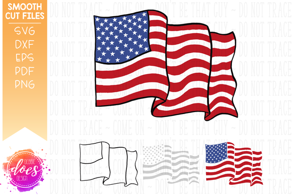 Hand Drawn American Flag - SVG File