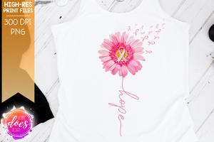 Pink Awareness Daisy - Hope - Printable/Sublimation File