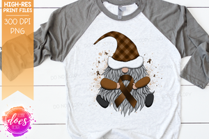 Awareness Ribbon Gnome - Brown - Sublimation/Printable Design
