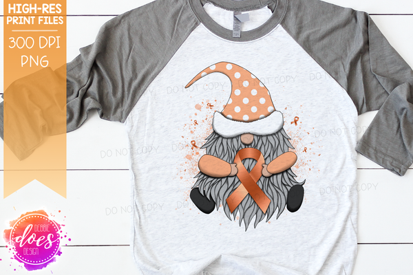 Awareness Ribbon Gnome - Peach - Sublimation/Printable Design