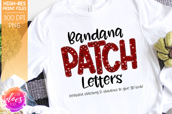 Bandana Patch Letters - Design Elements - Design Elements