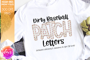 Dirty Baseball Patch Letters - Design Elements - Design Elements