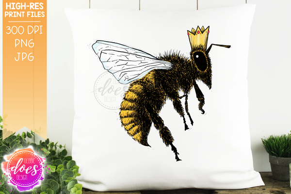 Hand Drawn Bee 4-Pack Bundle - Sublimation/Printable Design