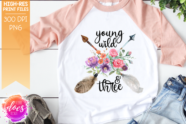 Boho Birthday Arrow Bundle - Sublimation/Printable Design