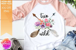 Boho Birthday Arrow - Two Wild - Sublimation/Printable Design