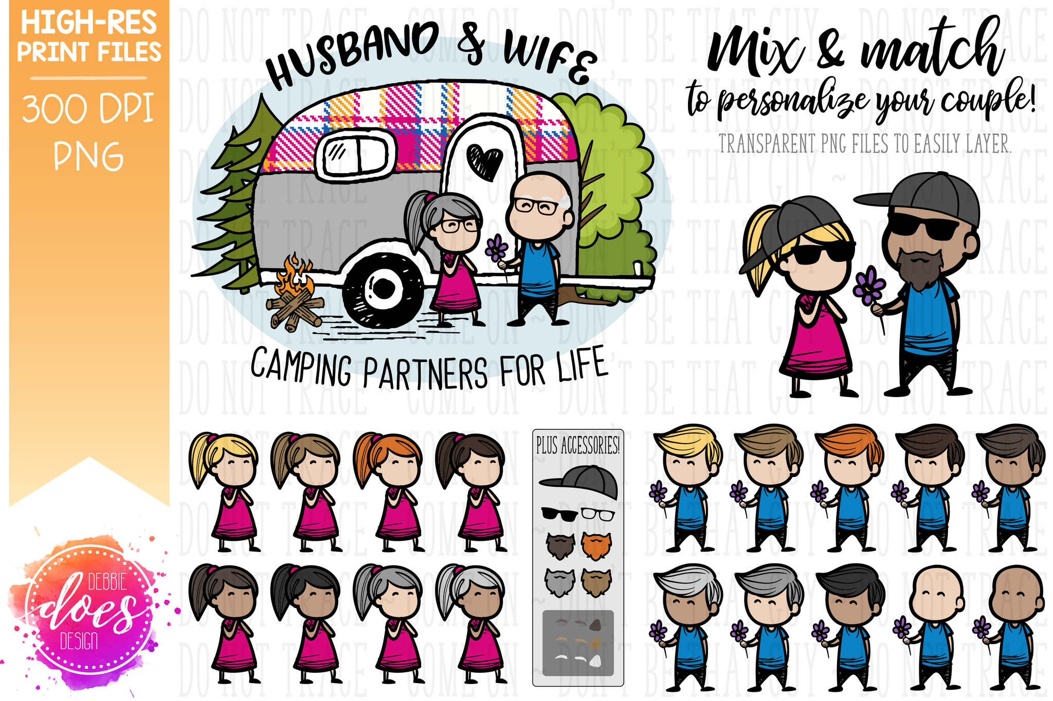 Camping Partners for Life Kit - Sublimation/Printable Designs