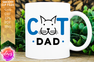 Cat Dad - Face - SVG File