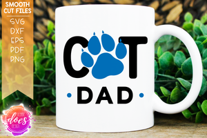 Cat Dad - Paw - SVG File