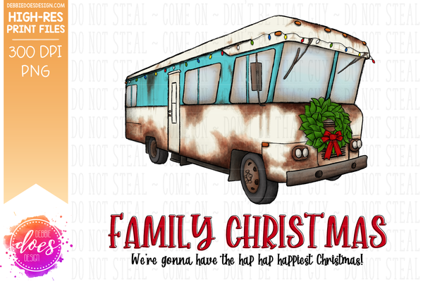Christmas RV Bundle - Includes 10 files! - Sublimation/Printable Design