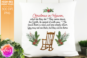 Christmas in Heaven Chair - Sublimation/Printable Design