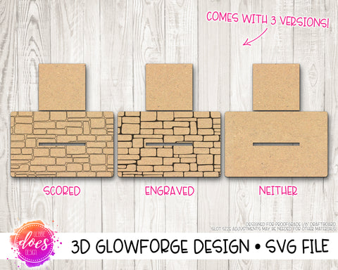 Cobblestone Stand - 3 Versions! - Glowforge Design