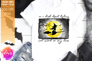On a Dark Desert Highway Witch - Sublimation/Printable Design
