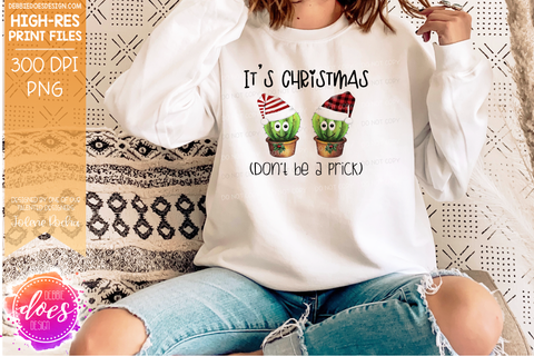 It's Christmas Don't Be A Prick - 6 Hat Variations - Sublimation/Printable Design