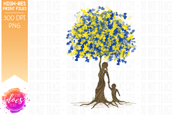 Boy Down Syndrome Tree of Love - Sublimation/Printable Design