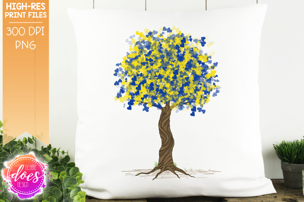 Down Syndrome Tree - Sublimation/Printable Design