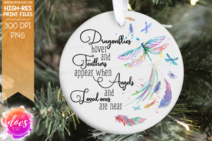 Dragonflies Hover and Feathers Appear - Sublimation/Printable Design