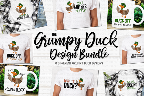 The Grumpy Duck Design Bundle - Printable/Sublimation Files