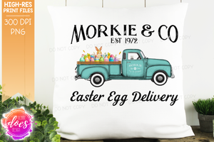 Morkie - Dog Easter Egg Delivery Truck  - Sublimation/Printable Design