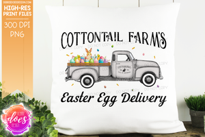 Cottontail Farms Easter Egg Delivery Truck - Grey - Sublimation/Printable Design