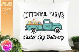 Cottontail Farms Easter Egg Delivery Truck - Mint - Sublimation/Printable Design