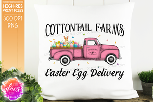 Cottontail Farms Easter Egg Delivery Truck - Pink - Sublimation/Printable Design